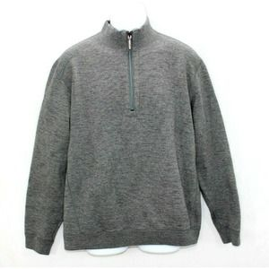 TOMMY BAHAMA Men's Cotton 1/4 Zip Pullover Gray